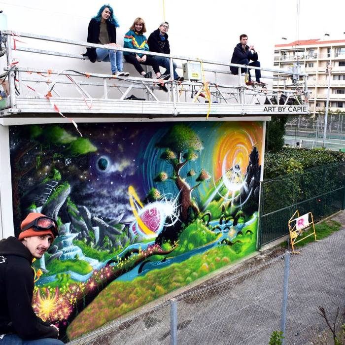 Interview – Capie : fresques murales et champignons multicolores