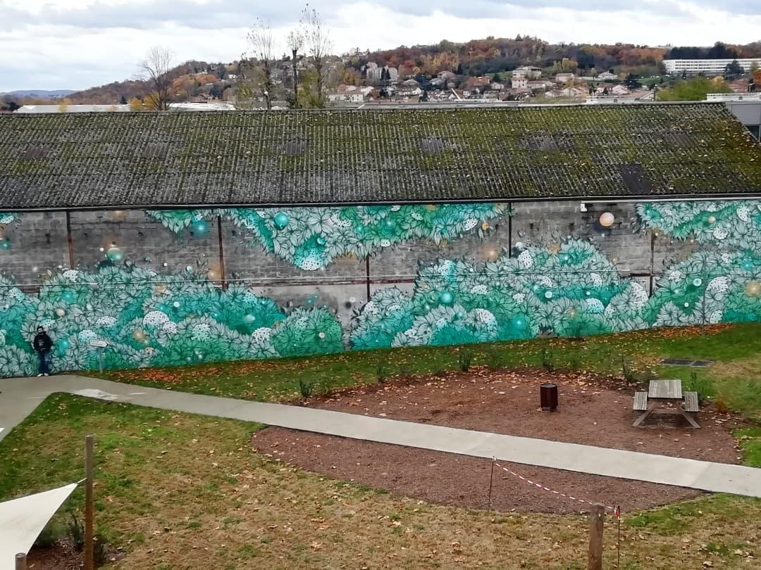 Fresque murale d'ampleur par Wenc – 2019