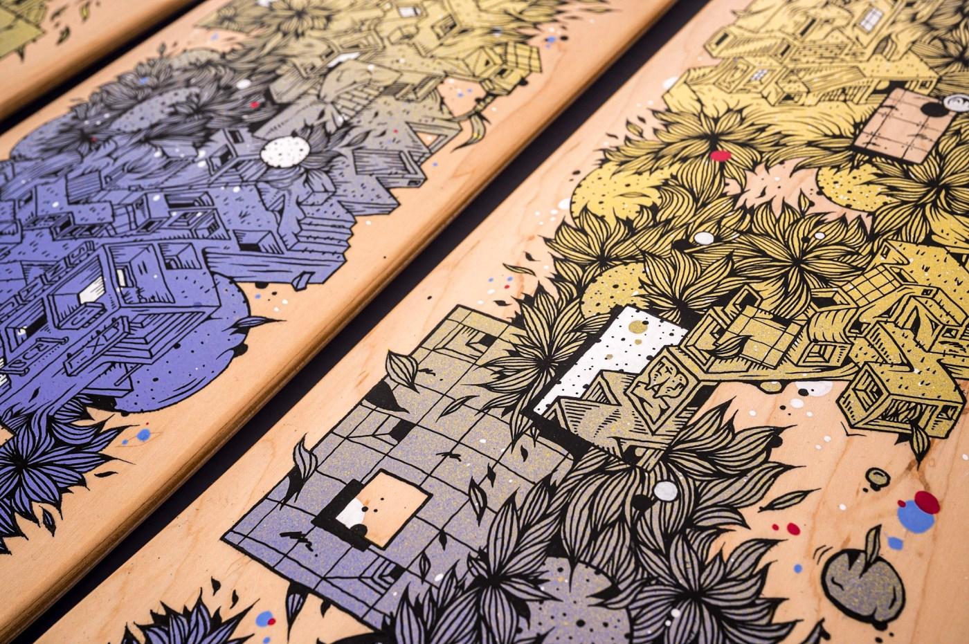 Wenc et Spraying Board : des décors urbains et organiques