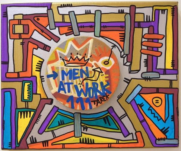Oeuvre d'art abstrait coloré par Tarek - street art