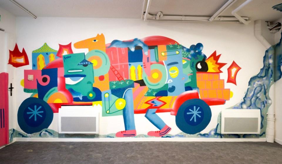 Hotel L'outa et street art par Shab