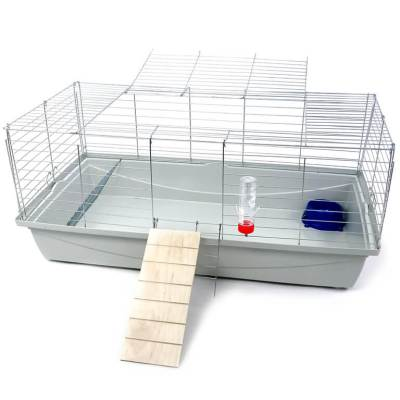 Klatka dla królika lub świnki morskiej 100cm zpodestem