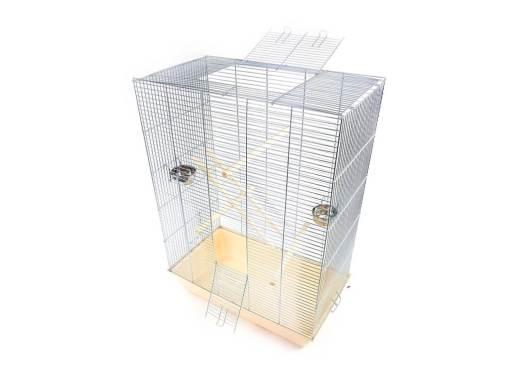 Klatka dla ptaków Mega4, beżowa kuweta