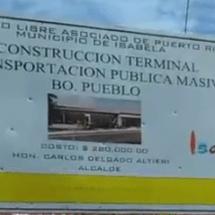Colocación Primera Piedra Terminal de Vehículos Transportación Masiva Isabela.