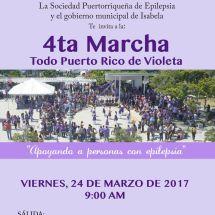 Cuarta Marcha violeta contra la Epilepsia 24 marzo 2017 en Isabela