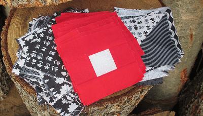 Bravura Red Wite and Black Quilt Blocks