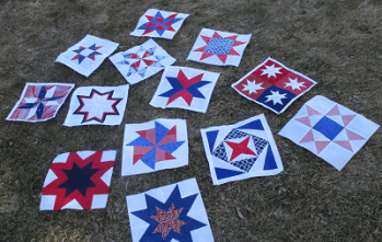 Fourth of July Star Quilt Blocks