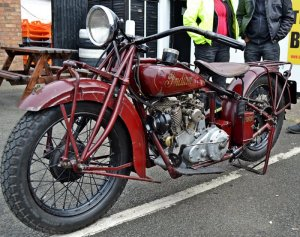 Red indian motorcycle photo