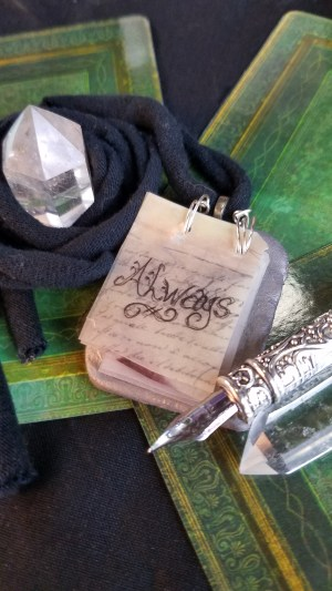 Always Live, Laugh, Love notepad necklace