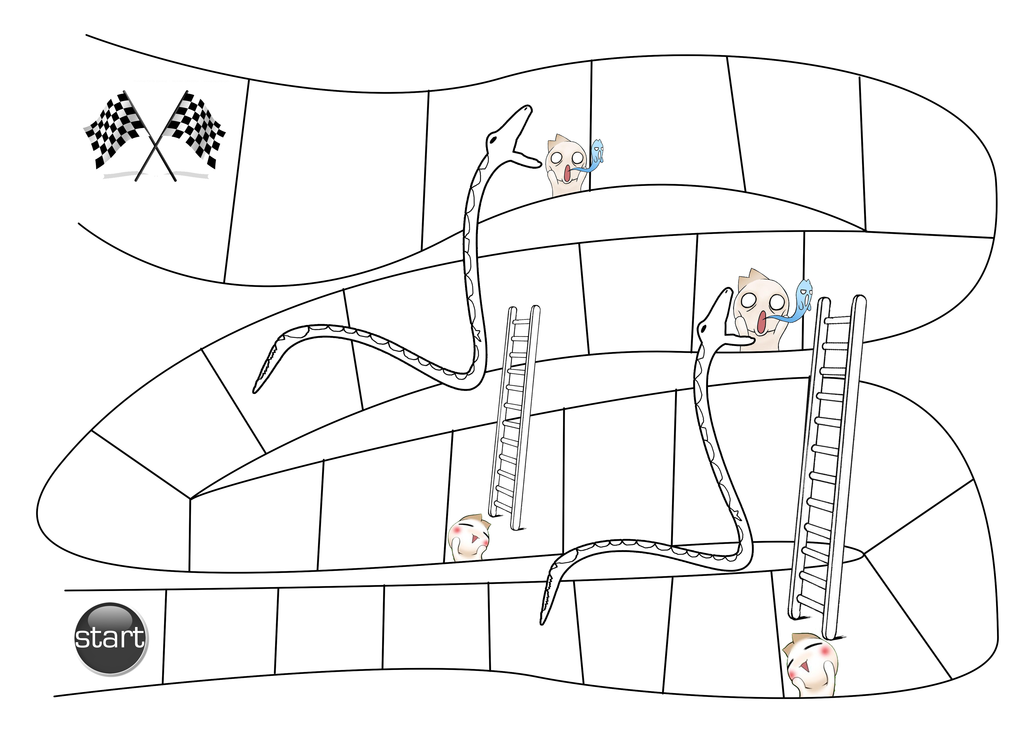 Ladders Game Printable And Boards Snakes Blank
