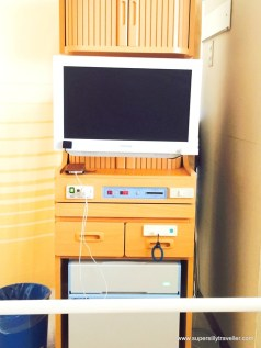TV Cabinet with fridge and charging point