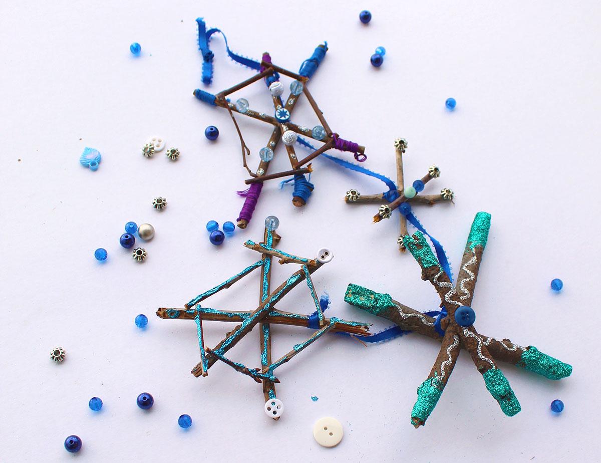 Sparkly Twig Snowflakes