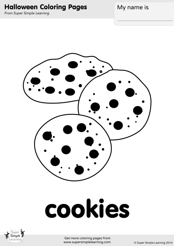 Cookies Coloring Page - Super Simple