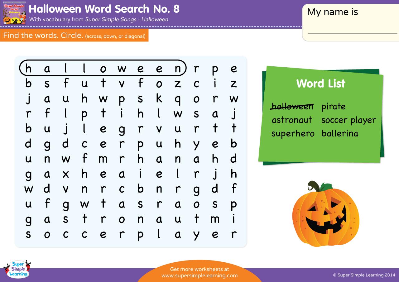Halloween Word Search 8