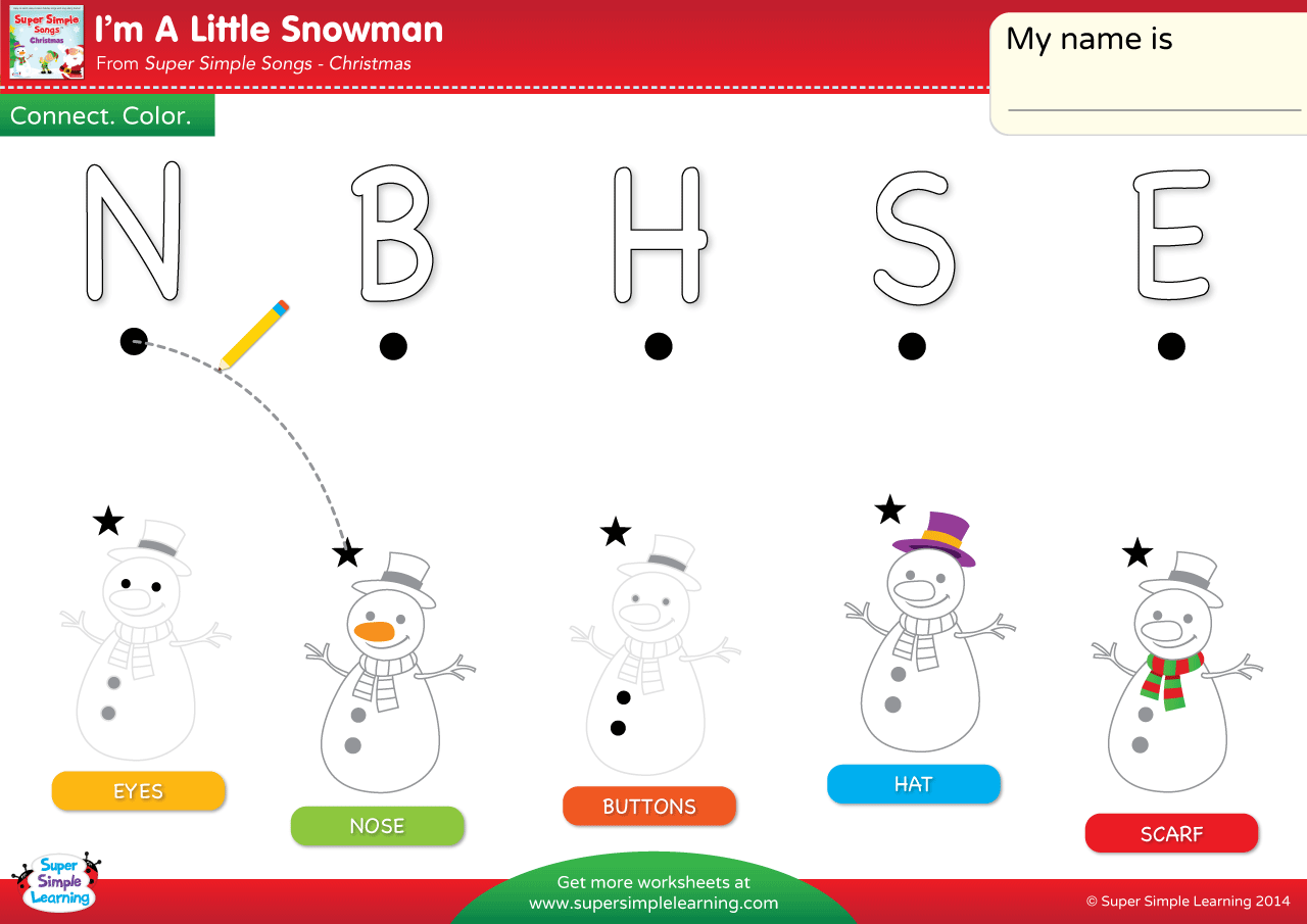I M A Little Snowman Worksheet