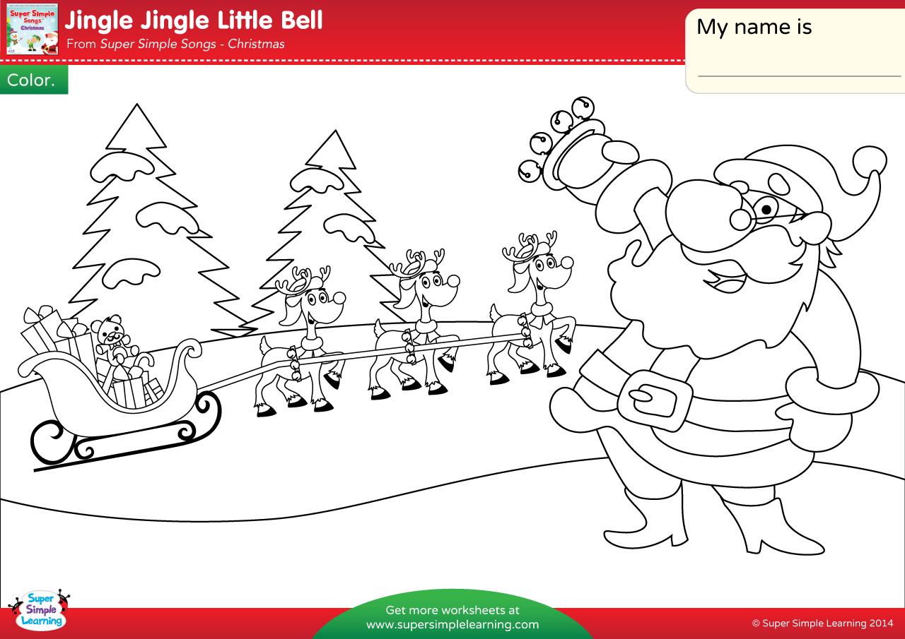 Jingle Jingle Little Bell Worksheet