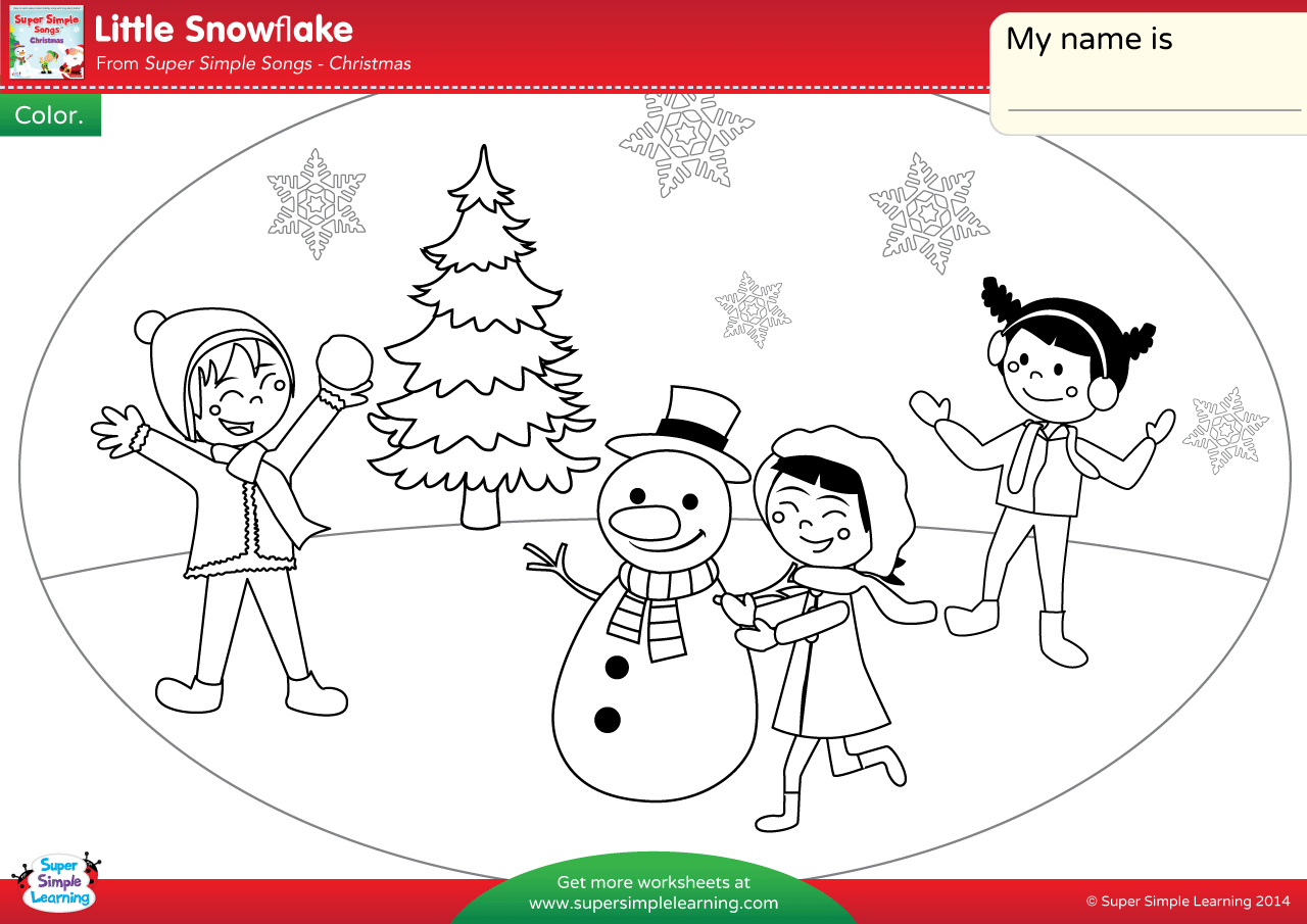 Little Snowflake Worksheet