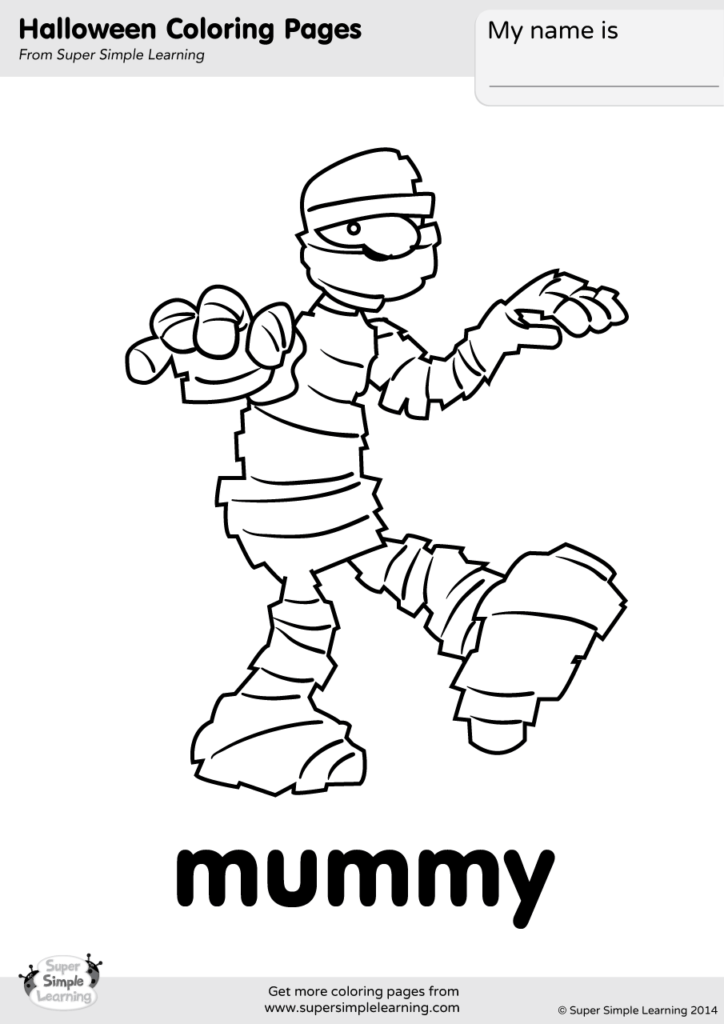 Mummy Coloring Page Super Simple