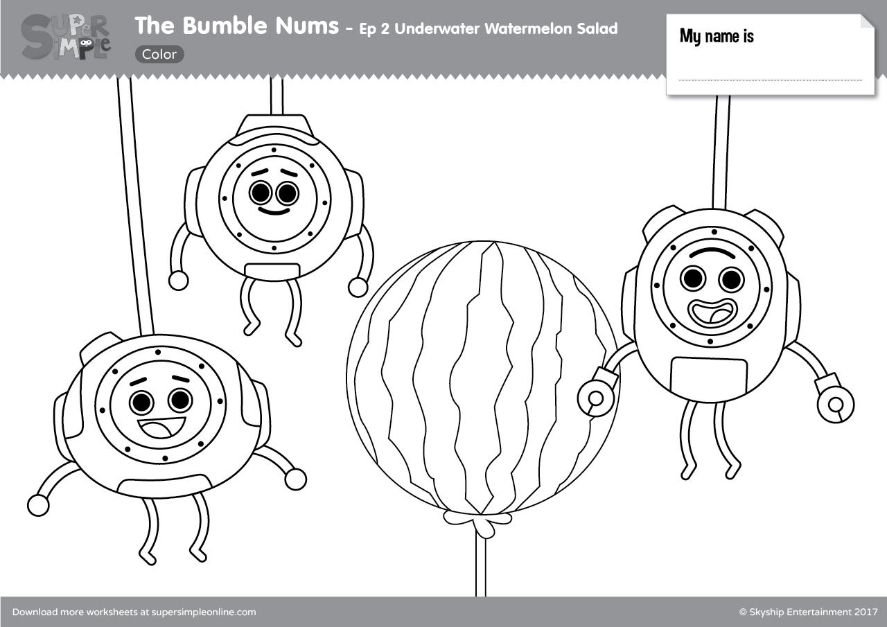 The Bumble Nums Color