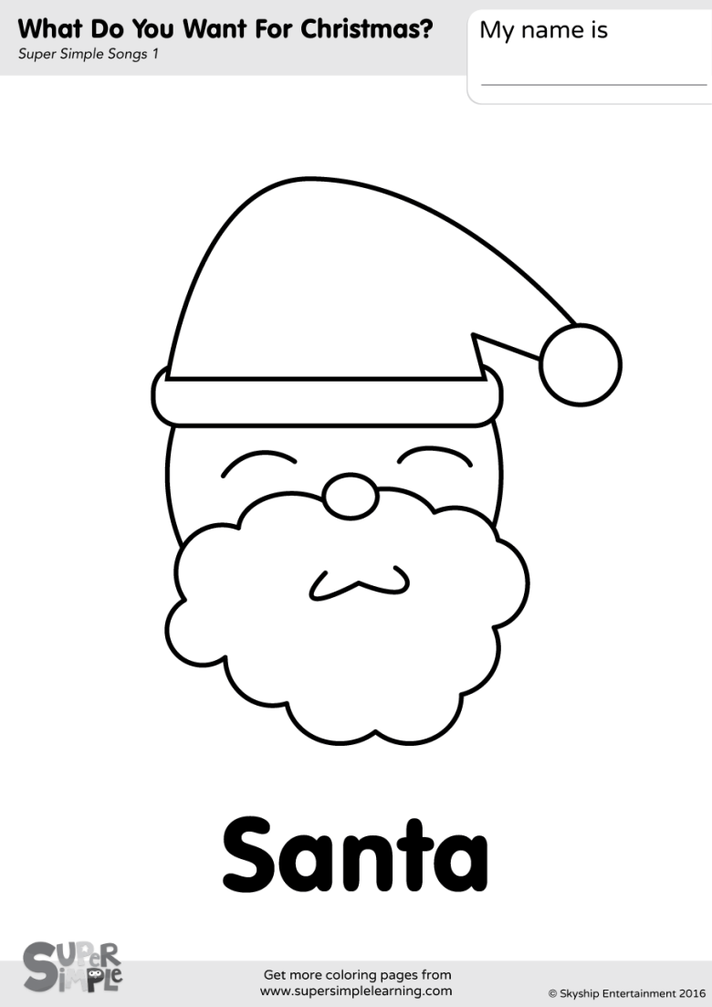 what do you want for christmas? coloring pages - super simple