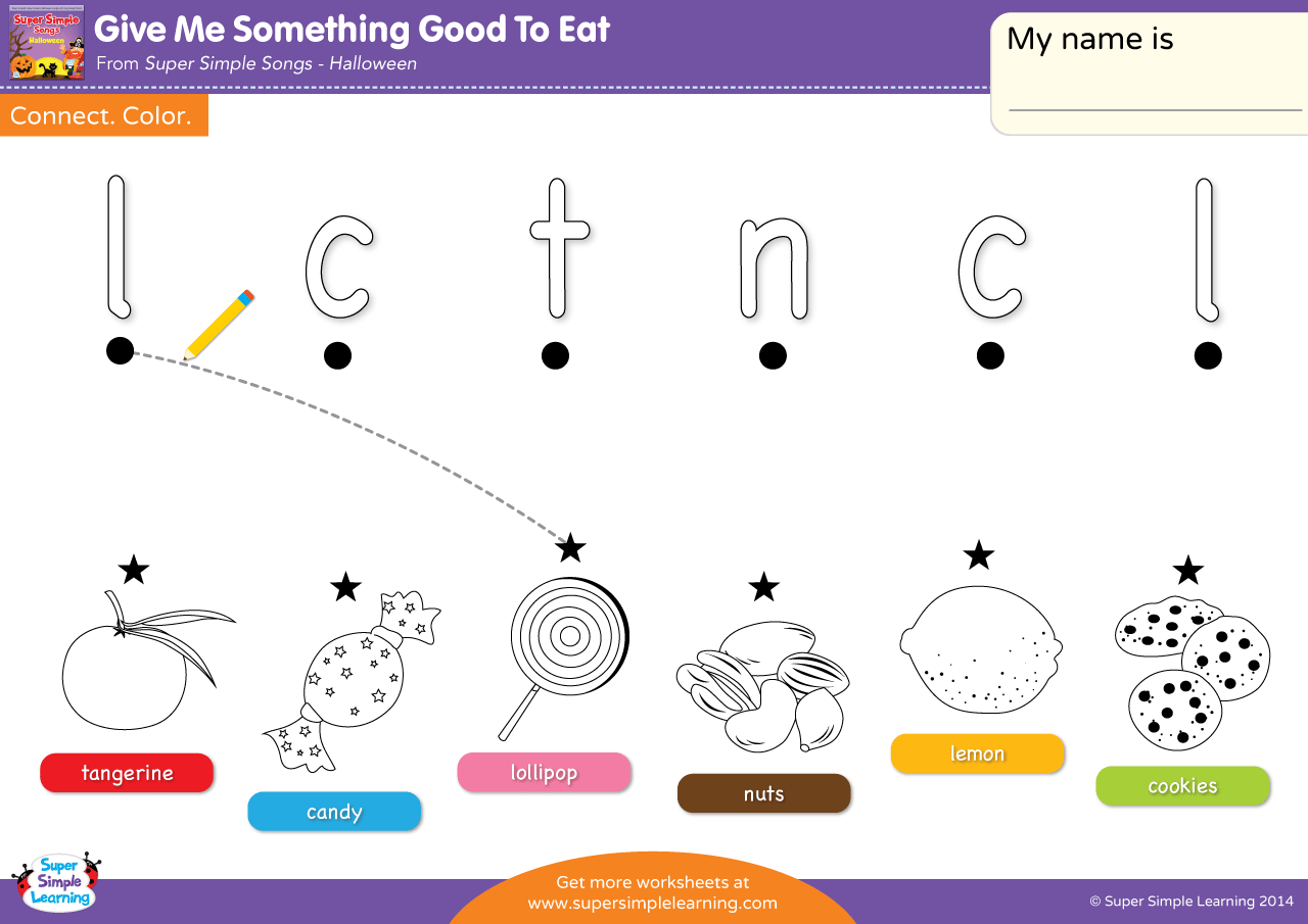 Give Me Something Good To Eat Worksheet Lowercase Letter