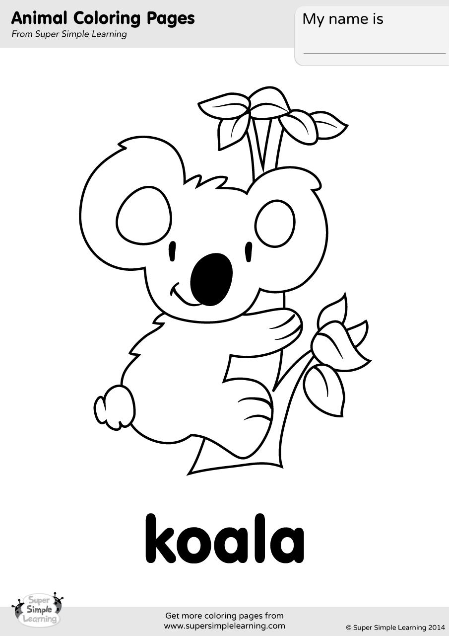 Coloring Picture Of A Koala Bear Novocom Top