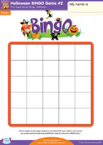 Halloween BINGO Game 2 Super Simple
