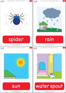 The Itsy Bitsy Spider Flashcards Super Simple