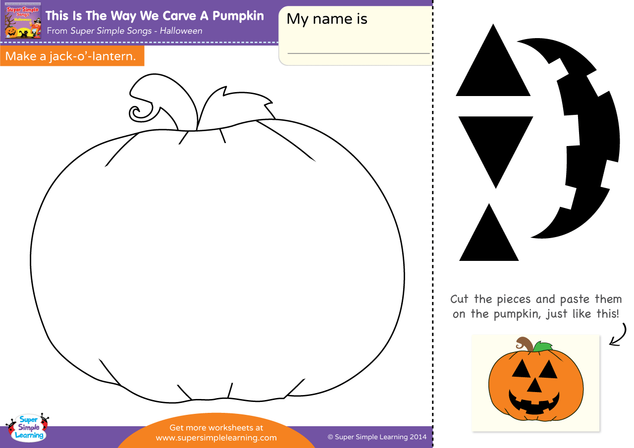 Pumpkin Worksheet For Halloween