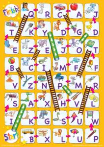 Uppercase Alphabet Chutes Amp Ladders Game Super Simple
