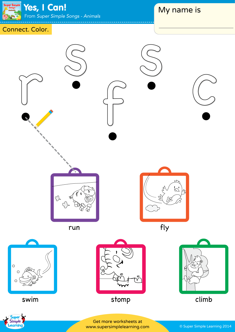 Yes I Can Worksheet Lowercase Letter Matching