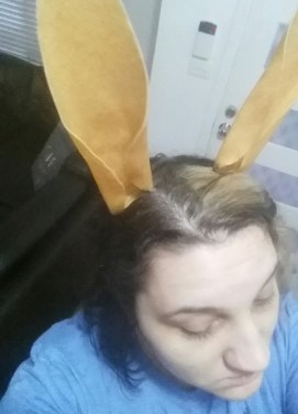 Worbla ears on hidden metal headband