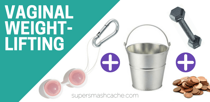 How to do vaginal weightlifting! Start with kegel balls, a carabiner, a bucket, and some weights like pennies or dumbbells