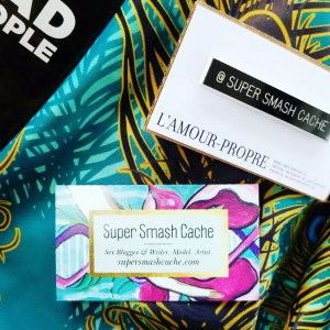 Super Smash Cache business cards and name tag by L amour propre