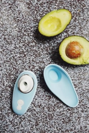 Image: the Womanizer Liberty's shape and size remind me of a small, slender avocado