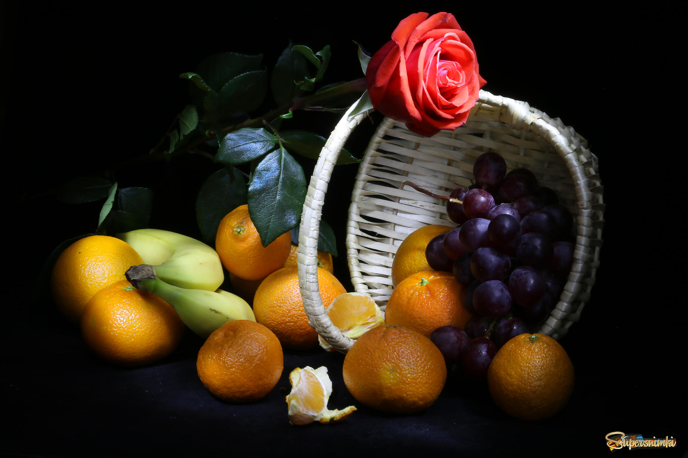 Корзинка с фруктами | Фотосайт СуперСнимки.Ру
