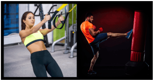 TRX exercises. Kickboxing for weight loss. HIIT circuit. TRX workout beginner. Core stability exercises. Kickboxing training