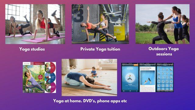 Yoga studios. Yoga at home.