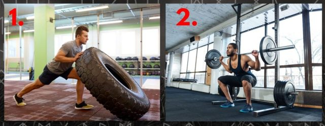 Tyre Flip and Barbell Back Squat. Thors Hammer Workout. Warrior Workouts. Super Soldier Project.