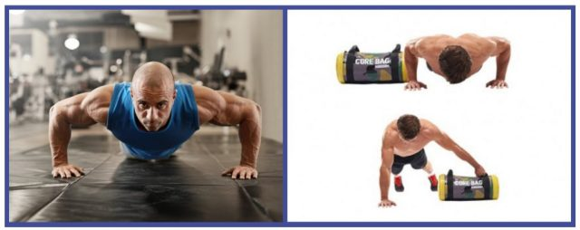 Whole Body workouts. Pushups. Sandbag drag. Chest and arms workout.