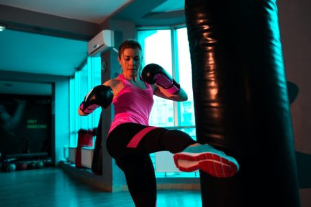 Kickboxing. Martial Arts Training. Stress relief. Coping mechanisms for stress