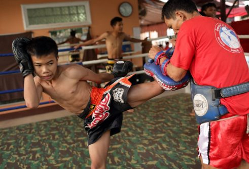 Kickboxing. Thailand. Martial Arts Training. Conditioning. Kickboxing for kids