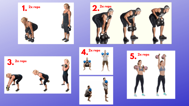 AMRAP workouts. Kettlebell exercises. Interval training. EMOM. TABATA. Best exercises to lose belly fat.