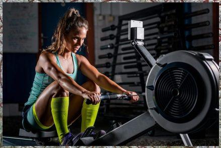 Rowing machine. Cardio Work. Shield-maiden Workout.