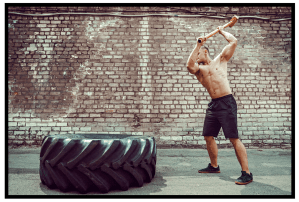 Whole Body workouts. Sledgehammer tire exercise