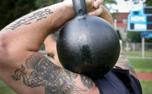 Kettlebell workouts. Russian Special Forces.
