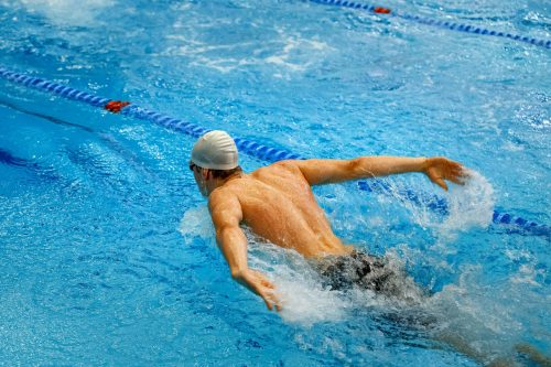 Swimming for fitness. Drown proofing. HIIT cardio.