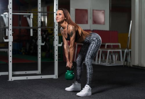 Kettlebell Romanian Deadlifts. Kettlebell workouts.Leg exercises. Hamstring exercises.
