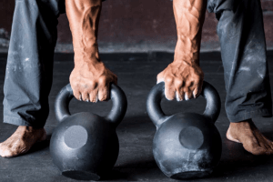 kettlebell workouts. Kettlebell grip strength.