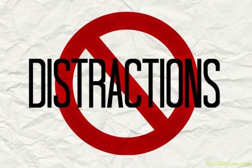 No distractions. SSP Commandments.